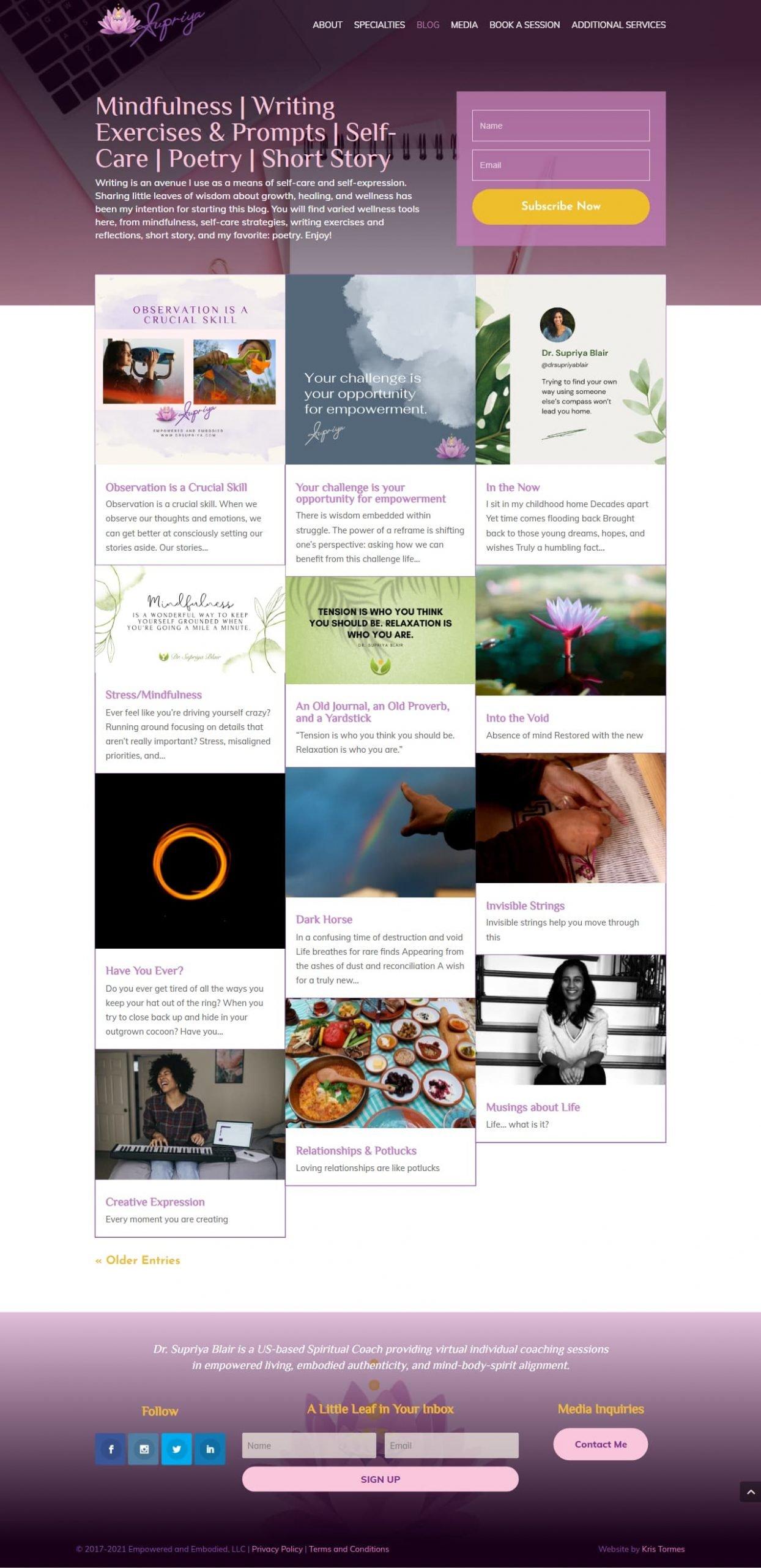Dr Supriya Blog