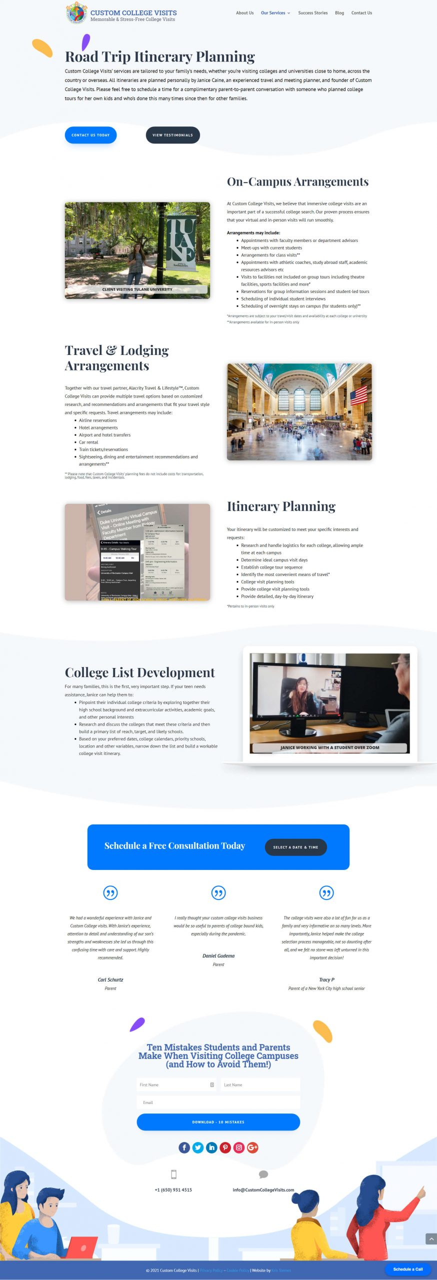 Custom College Visits Services
